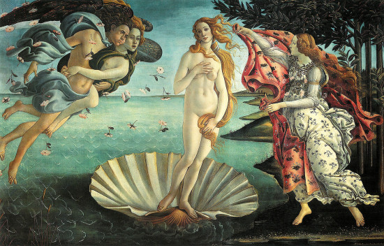 Nascimento de Vênus Botticelli