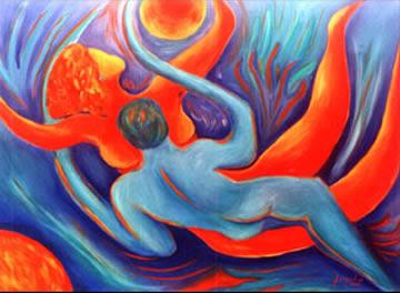 NO SILÊNCIO DOS CORPOS( A dança dos amantes - pintura de Jacqueline Klein)