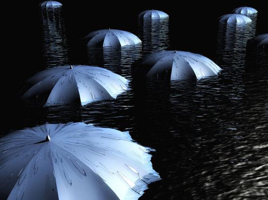 guarda chuvas enxurrada